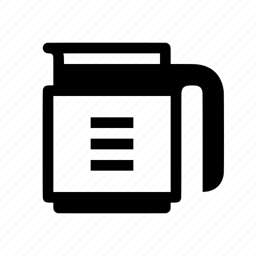can, coffeepot, decanter, jug, pot icon