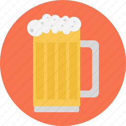 beer, beer glass, beer jug, glass, glass of beer icon