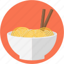 asian food, bowl, bowl of noodles, chinese feed, eating sticks, noodles, noodles bowl
