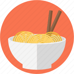 asian food, bowl, bowl of noodles, chinese feed, eating sticks, noodles, noodles bowl icon