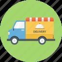 delivery, food, truck, food delivery, food truck