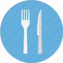 and, blue, cutlery, fork, fork and knife, fork knife, knife