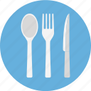 and, cutlery, fork, fork knife spoon, knife, spoon icon