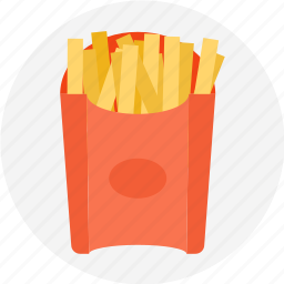 bag of fries, french, french fries, fries, mcdonalds icon