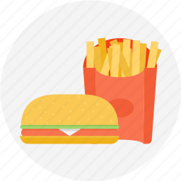 and, burger, french fries, fries, fries and burger, hamburger icon