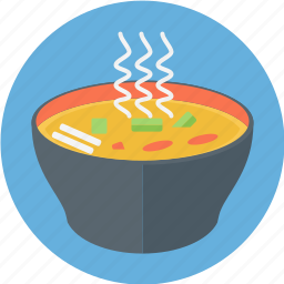 bowl of soup, hot, noodle soup, soup, soup bowl icon