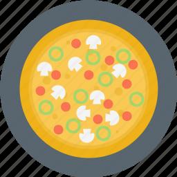 italian, italian food, pizza, plate icon