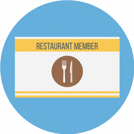 card, club card, diners card, member, member card, restaurant icon