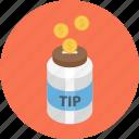 jar, tip jar, tipping, tipping jar