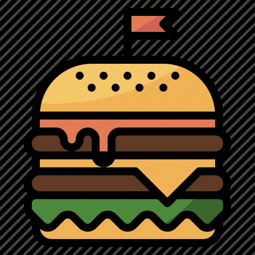 burger, cafe, food, restaurant icon