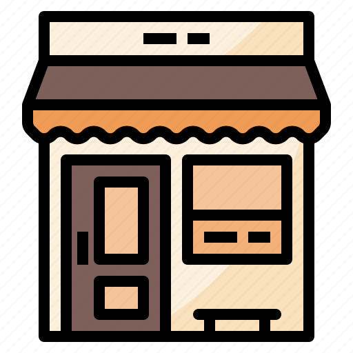 cafe, coffee, front, shop icon