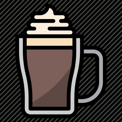 cafe, coffee, latte, mocha, restaurant icon