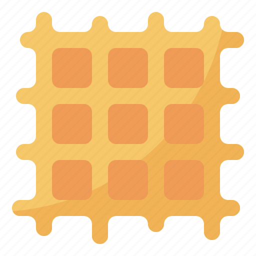 cafe, coffee, restaurant, waffle icon
