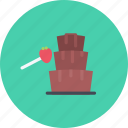 candy, chocolate, coffee shop, food, fountain, sweet shop icon