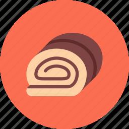 candy, chocolate, coffee shop, food, roll, sweet shop icon
