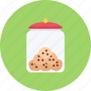 candy, coffee shop, cookie, food, jar, sweet shop icon