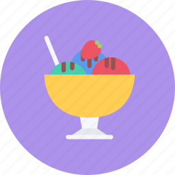 candy, coffee shop, cream, food, ice, sweet shop icon
