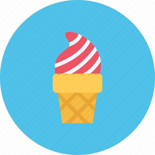 candy, cone, cream, food, ice, sweet shop icon