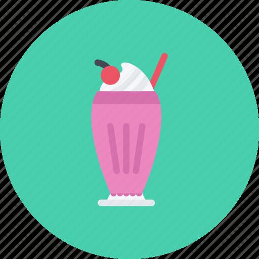 candy, coffee shop, food, milk, shake, sweet shop icon