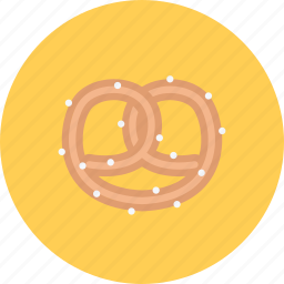 candy, coffee shop, food, pretzel, sweet shop icon