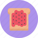 candy, coffee shop, food, jam, sweet shop, toast icon