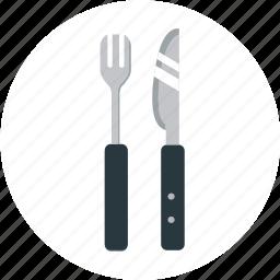 cafe, dinner, eat, food, kitchen, knife, restaurant icon