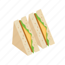 bread, breakfast, cheese, food, sandwich icon