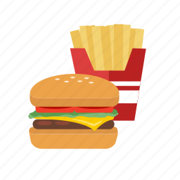 burger, fast food, food, french fries, junk food icon