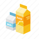 drink, fresh, juice, milk, orange icon