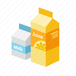 drink, fresh, juice, milk, orange icon