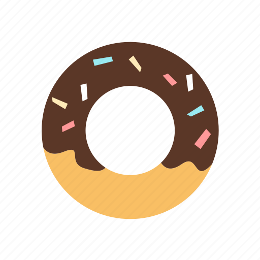 baked, bakery, chocolate, dessert, donut, sweet icon