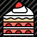 bakery, cake, dessert, strawberry, sweet