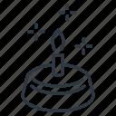 birthday, cake, dessert, line, outline icon