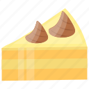 cake slice, cheesecake, dessert, pastry, vanilla cake icon