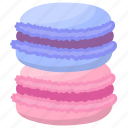 biscuit, confectionery, cookie, gastronomy, macaroon icon