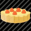 cream pie, creme pie, custard pudding cake, sweet food, vanilla cream pie icon