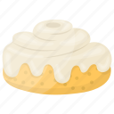 bakery food, chiffon cake, confectionery, cream icing, whipped cream topping icon