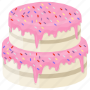 confectionery, confetti cake, funfetti layer cake, layer cake, sprinkle cake icon