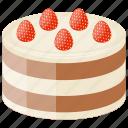 chocolate buttercream, dessert, dobos torte, hungarian sponge cake, sweet food icon