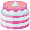confectionery, cream frosting, dessert cake, layer cake, strawberry cake icon