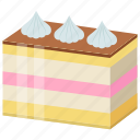 bakery food, blechkuchen, confectionery, eierschecke, sheet cake icon