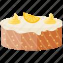 bakery food, chiffon cake, confectionery, orange caramel cake, pudding cake icon