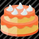 bakery food, confectionery, layer cake, orange buttermilk cake, orange vanilla cake icon