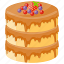 confectionery, dessert, ice cream cake, layer cake, sweet food icon