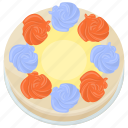 buttercream frosting cake, confectionery, dessert, icing cake, sweet food icon