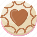 chocolate frosting, chocolate topping cake, delicious food, dessert, valentine cake icon