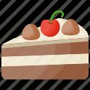 cake slice, dessert, pastry, torte cake, vanilla cake icon