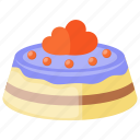 bakery food, chocolate vanilla cake, dessert cake, icing cake, kiev cake icon