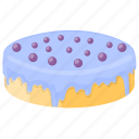 blueberry cake, blueberry cheesecake, cheesecake cake, confectionery, dessert cake icon