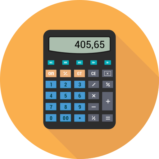 Calc, calculate, calculater, device, operation, tool icon - Free download